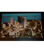 Vintage Miami FL Biscayne Bay aerial view  Post Card POSTCARD unused - $19.99