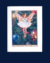 Original 1940s The Christmas Tree Fairy by Cicely Mary Barker Early Edition Book - $12.90