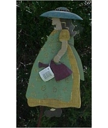 Yard Stake, Distressed Wood, Gardening Girl - $18.00