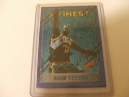 1995-96 Topps Finest w/peel #40 Gary Payton Seattle Supersonics -Hall Of... - $3.12