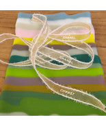 "Free Shipping**Authentic Chanel ""Christmas gold I"" 3/8"" Organza ribbon Light gol - $11.25"