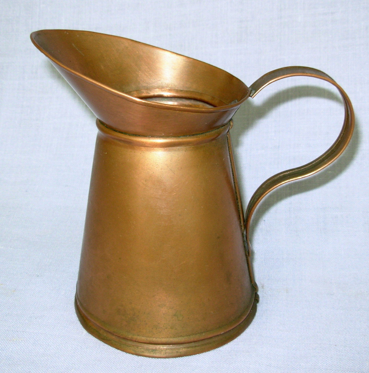 "Primary image for vintage OOAK Handmade Handcrafted 6"" Solid Copper Pitcher"