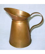 "vintage OOAK Handmade Handcrafted 6"" Solid Copper Pitcher  - $35.00"