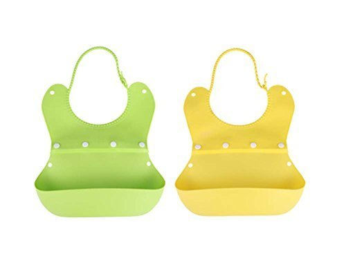 Waterproof Comfortable Baby Bib/Pinafore For Baby(Green+Yellow)