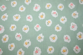 PINK AND YELLOW ROSES ON GREEN CHECK FROM IN THE BEGINNING FABRICS - $7.91