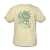 Superman T-shirt Free Shipping DC comic superhero 100% cotton beige tee SM1543 image 1