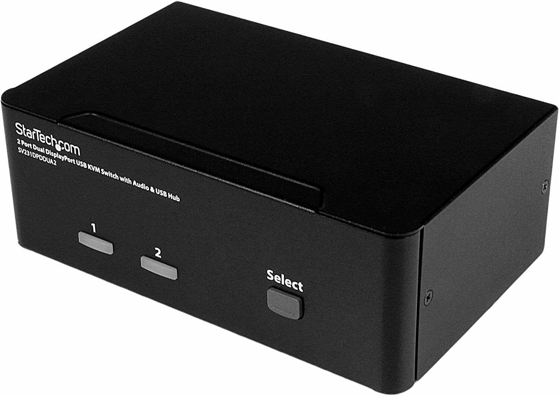 StarTech 2 Port DisplayPort Dual-Monitor KVM Switch - DisplayPort KVM - 4K 60Hz - $334.99