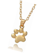 Cute Animal Paw Print Pendant Puppy Dog Cat Pet Memorial Necklace - $19.49