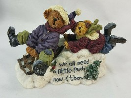 Boyds Christmas Figurine ASPEN & TAHOE ENJOY THE RIDE #228367  with box ... - $7.95