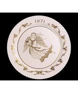 Spode Bone China 2nd Christmas Plate w Angel 1971 Ding Dong Bells Gold Gilt - $6.95