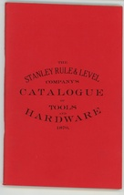 1870 Stanley Rule Level Co catalog vintage antique tools reprint - $19.00