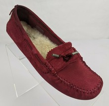 Ugg Sangria Roni Suede Driving Moccasin Shearling Lined 1003539 Womens Size 8.5  - $29.95