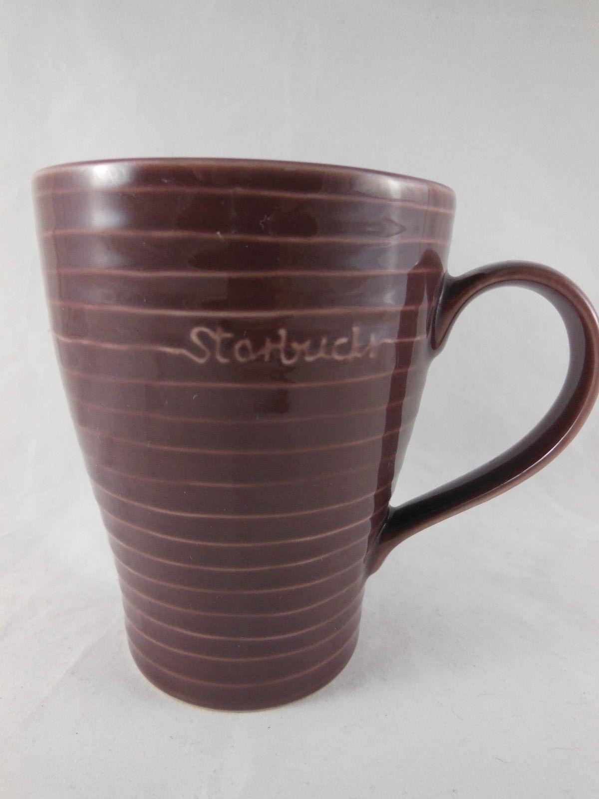 Starbucks 2009 Purple Plum Striped Mug by and 50 similar items