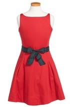 Girl's Ralph Lauren Sleeveless Cotton Sateen Dress, Red, Size 5, MSRP $69,5 - $34.64