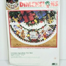Dimensions Christmas Ingredients Tree Skirt Counted Cross Stitch Kit #86... - $74.24