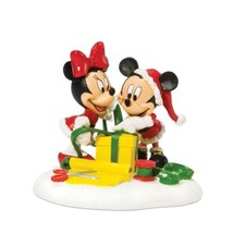 Department 56 Disney Village Mickey and Minnie Wrapping Gifts Accessory ... - $44.53