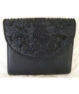 Black beaded evening bag clutch purse - $9.99