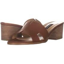 Nine West Aubrey Mule Heeled Sandals 479, Dark Brown Leather, 7 US - $23.99