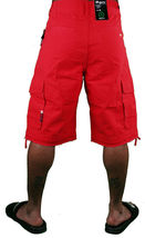 LRG Lifted Research Group Sharks Landing Red Walk Cargo Shorts NWT image 5