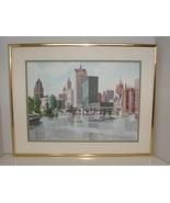 Signed, Matted, Framed David Belling Chicago City Print - $60.00