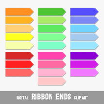 Stitched Ribbon Ends, Arrows and Flags - Digital Clip Arts, CU4CU - $4.50