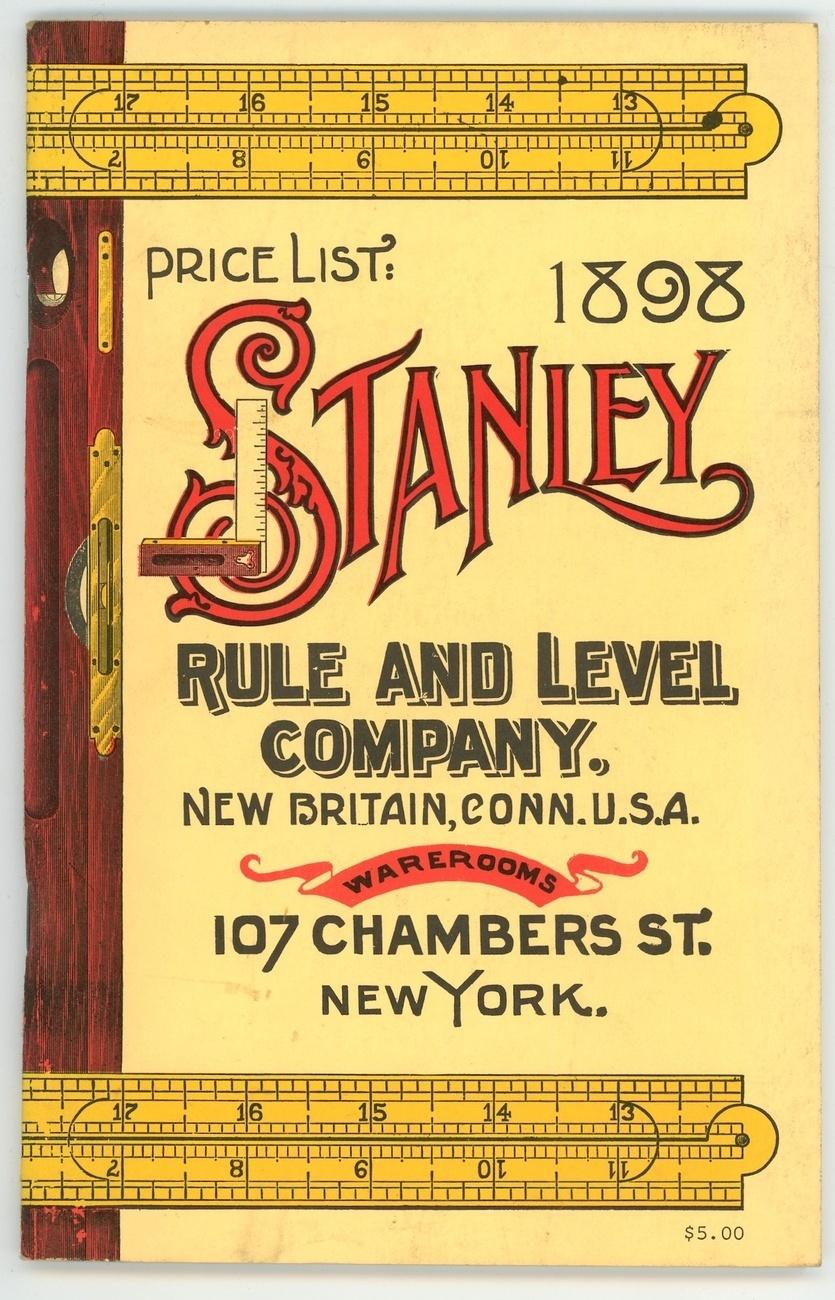 1898 Stanley Rule Co tool catalog antique vintage reprint antique - Nonfiction