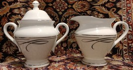 Waterford China BALLET RIBBON Creamer and Sugar Bowl - NEW! - $116.41