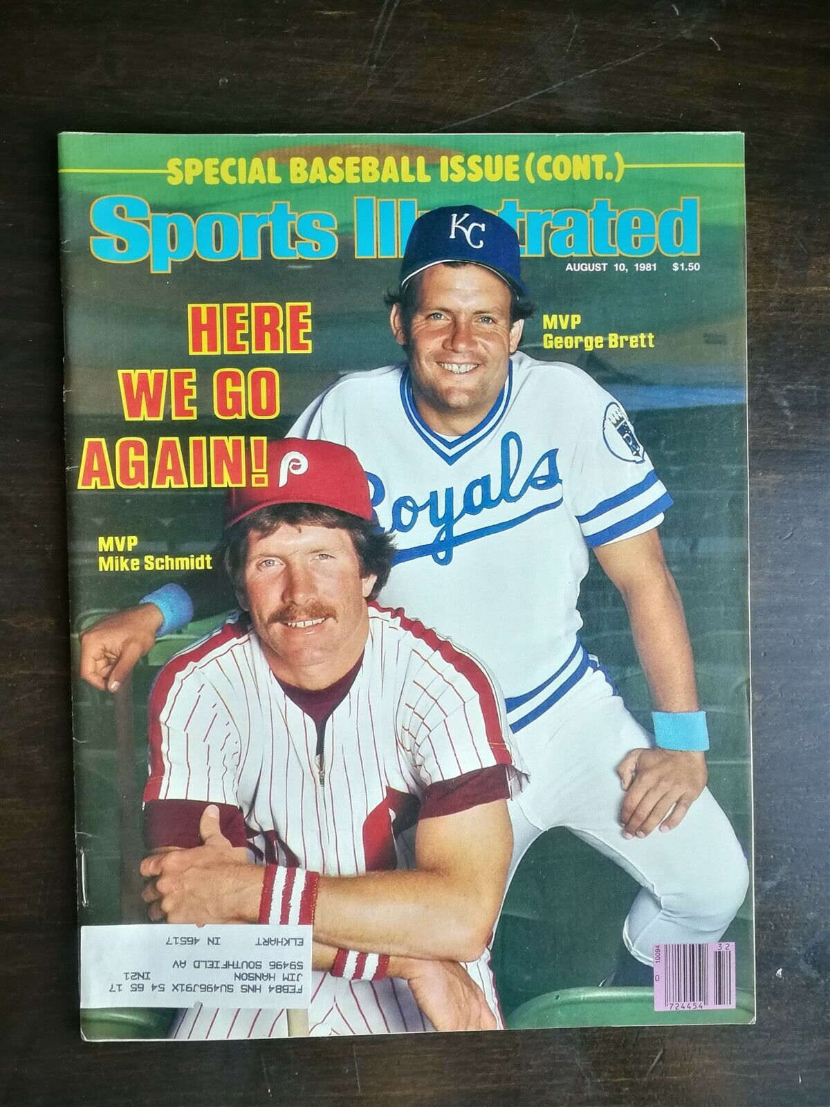 Primary image for Sports Illustrated August 10, 1981 - Baseball Issue Mike Schmidt & George Brett