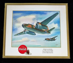 "WW II 1943 Douglas A-20 Boston Coca-Cola Heaslip Litho Signed Print 15"" ... - $59.66"