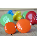 Colorful Dresser Knob Cabinet Knobs Drawer Pulls Knob Handles Kids Ceram... - $2.50