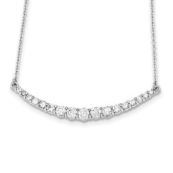 "Primary image for Lex & Lu Sterling Silver CZ Necklace 18"" LAL17964"
