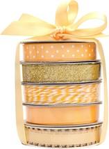 American Crafts Premium Ribbon & Twine 5/Pkg-Gold - $14.25