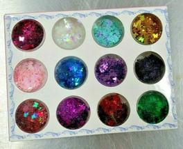 12 Colors/set 3D Butterfly Nail Glitter Sequins, Kalolary Splarkly Laser Butterf - $7.55