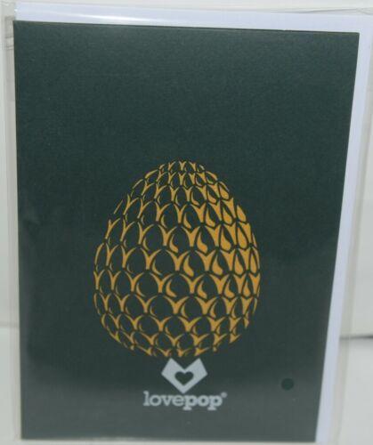 Lovepop LP1240 Dragon Pop Up Card  White Envelope Cellophane Wrap