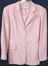 Pre-Owned Talbots Collection Pale Pink Blazer Jacket, Wool, Silk & Linen... - $21.99