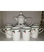 Dansk Rosebud 6 Mugs 1 Coffee Pot With Lid Made in Japan - $374.00