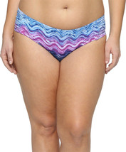 NEW BECCA Cosmic Tab Sides Tie Dye Marble Plus Size Bikini Bottom 1X 16-18 - $29.69