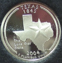 2004-S Silver Proof Texas State Quarter PF65DC #1042 - $6.39