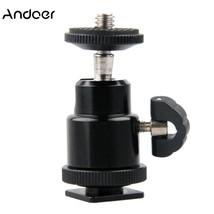 "Andoer Aluminium Alloy Mini Ball Head 1/4"" Mount with Flash Shoe Ball He... - $12.74"
