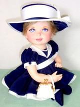 RARE Porcelain Baby Doll A Proper Little Princess Diana Franklin Mint Bo... - $174.95