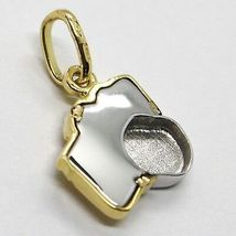White Yellow Gold Pendant 750 18k, Camera, Made in Italy image 3