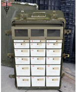32x20x11 Aluminum Watertight Military Medical Supply Chest 22 Drawers Me... - $114.00