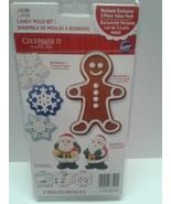 Christmas Cookie Candy Mold Set Santa's Snowflakes Wilton Gingerbread Man - $8.00