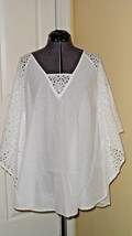SPIAGGIA DOLCE COVERUP SIZE M WHITE EYELET NWT - $18.98