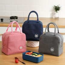 Female Lunch Food Box Bag Fashion Insulated Thermal Food Picnic Lunch Ba... - $15.00