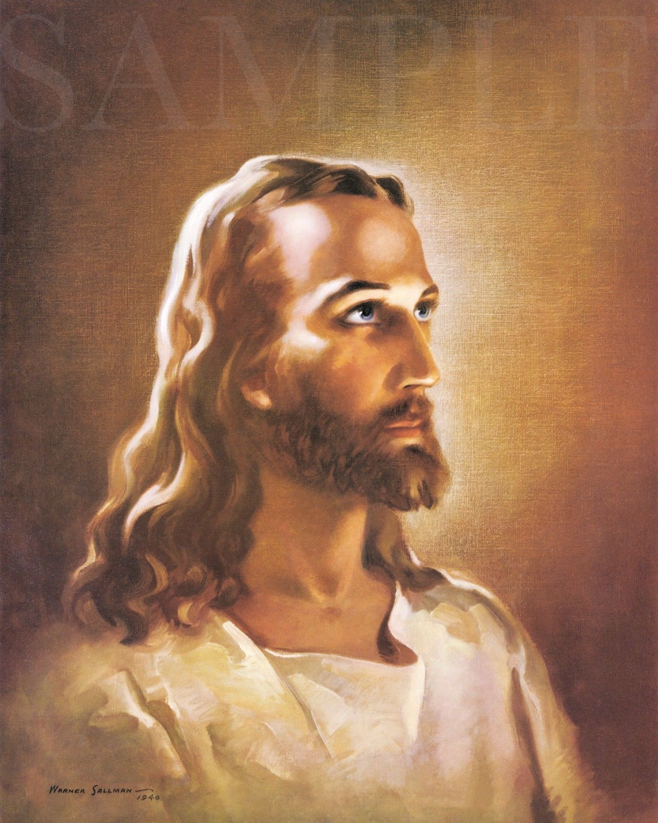 Primary image for Jesus Christ Picture 8X10 New Fine Art Color Print Vintage Old Antique Home