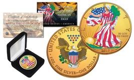 Combo 24K GOLD GILDED / COLOR 2017 American Silver Eagle 1 Oz .999 Coin ... - $49.45