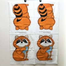 Vintage Cut and Sew Fabric Panel Raccoon Stuffed Animal Pillow Spring In... - $31.50
