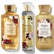 3 Pc. Bath & Body Works Dahlia Mist, Lotion & Gel Set New - $27.10