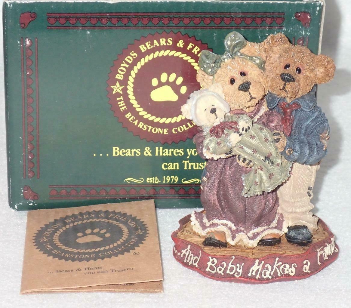 Boyd Bearstone Resin Bears Momma & Papa McNewBear Figurine #227731 8E image 3